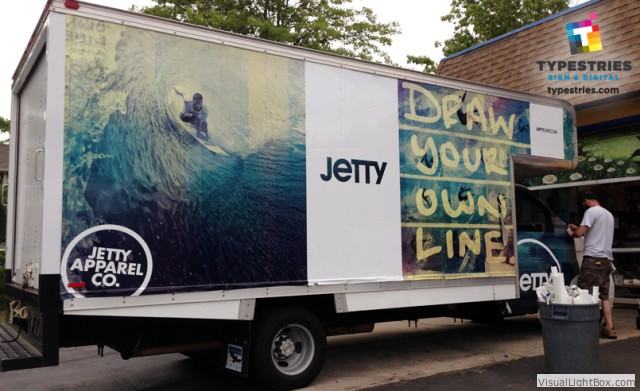 Box Truck Vinyl Wrap for Jetty - complete wrap on all four sides using 3M Controltac wrap vinyl
