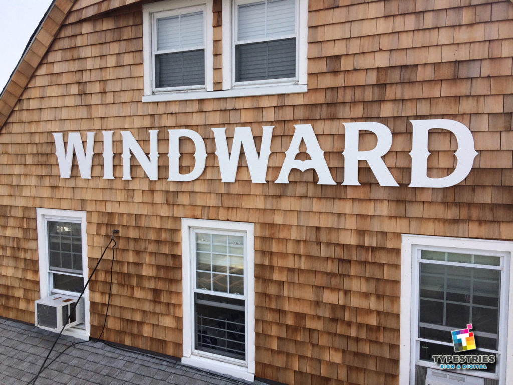 Beautiful cut out facade letters for Windward - Beach Haven Long Beach Island