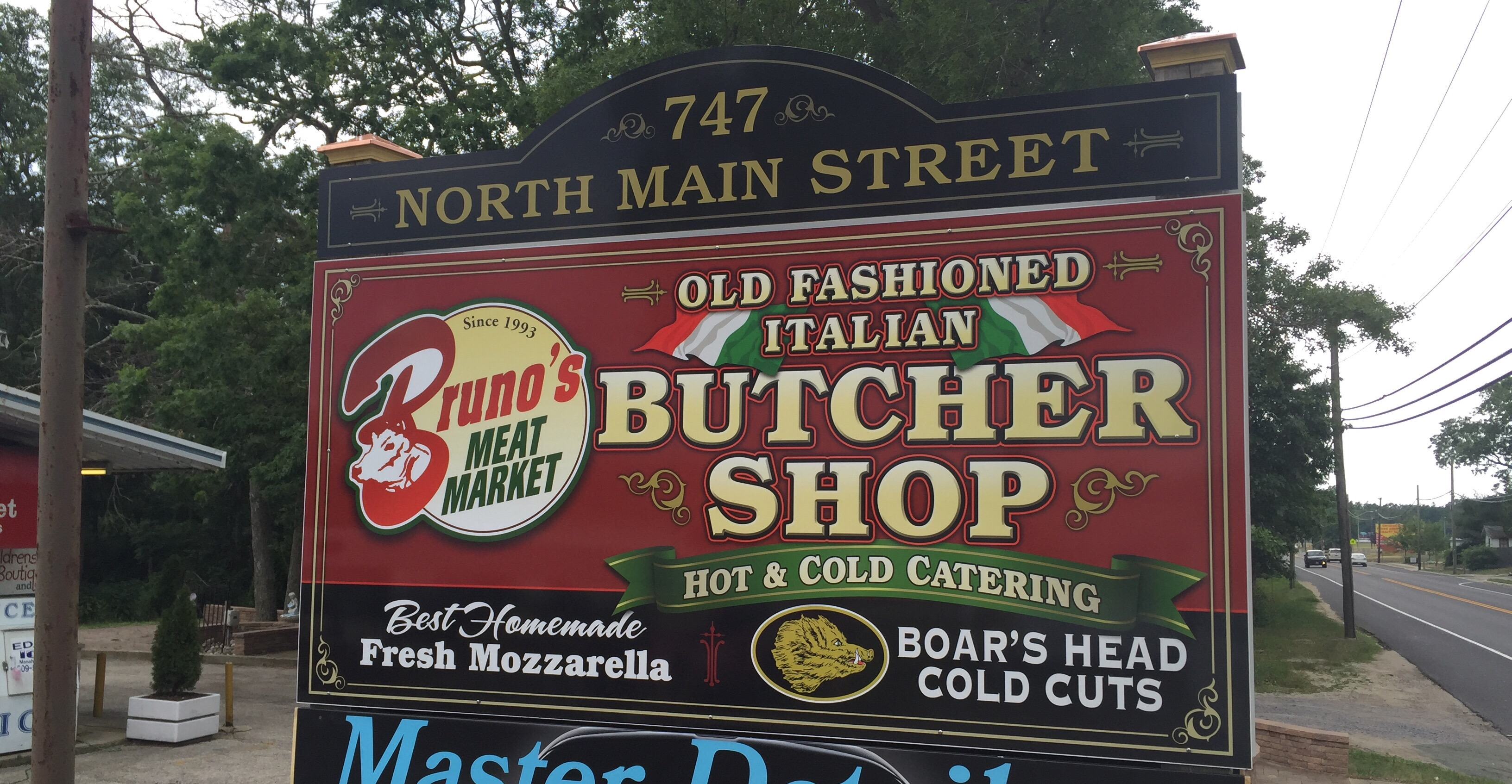 Bruno's Meat Market printed vinyl sign in Manahawkin Ocean County