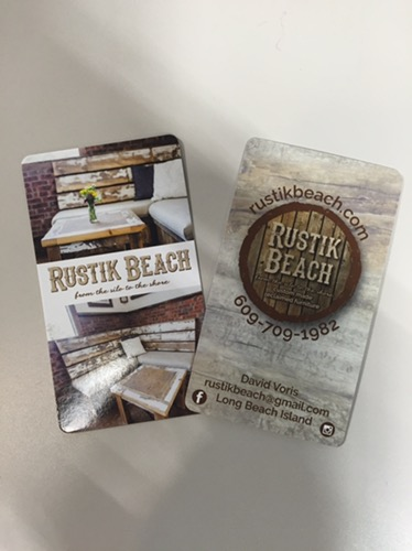 small business branding design, logo design, and business cards for Rustik Beach