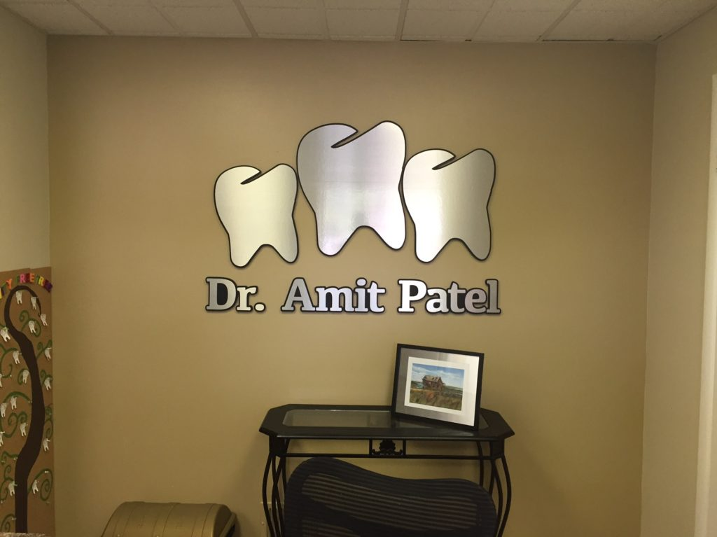 Interior lobby logo Dr. Amit Patel in Barnegat