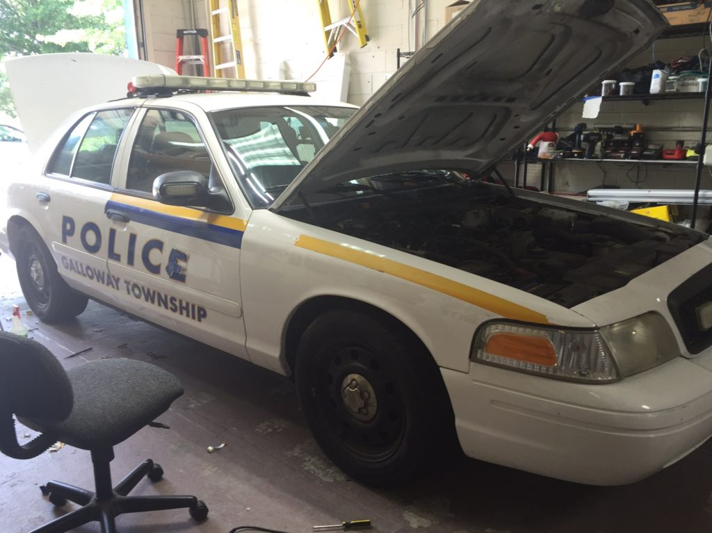 Galloway police - full 3M vinyl wrap for D.A.R.E. in progress for this Atlantic County police department