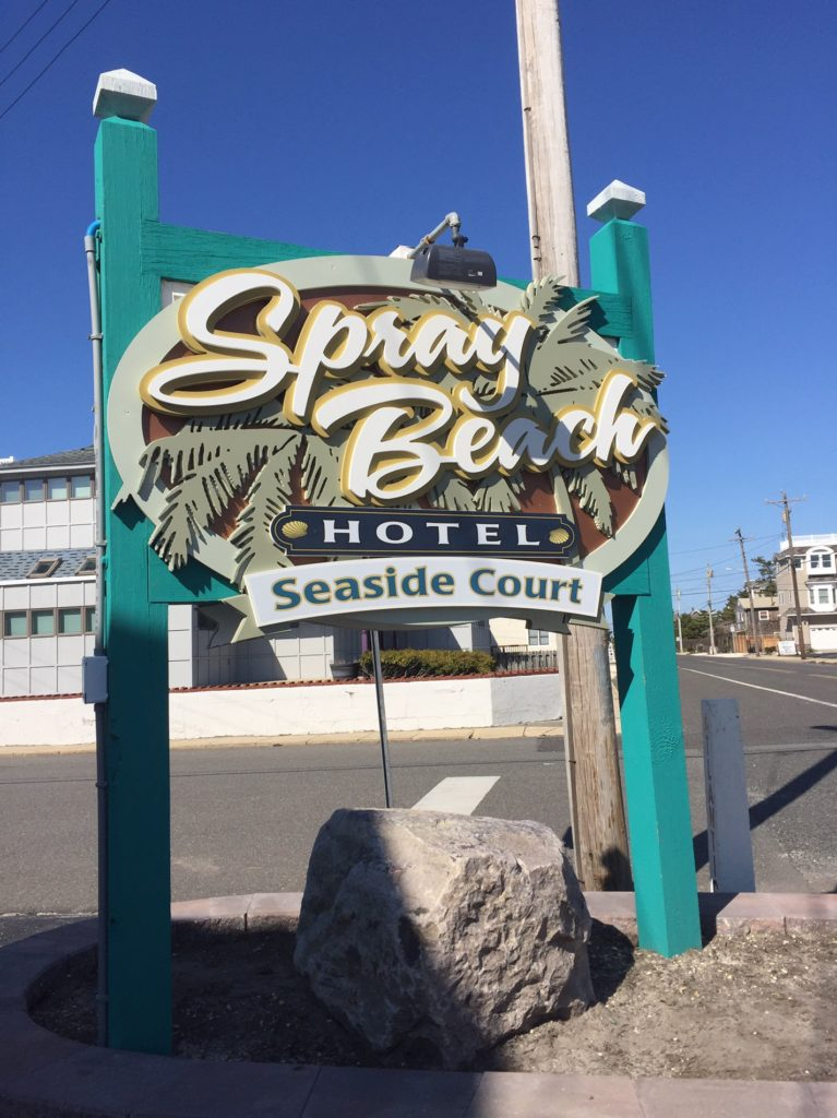 Typestries created new branding, logo, and signs throughout Spray Beach Hotel