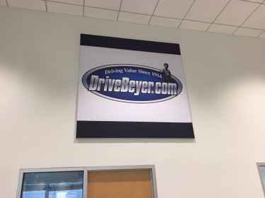 Interchangeable, aluminum frame tension fabric display in Morristown, NJ